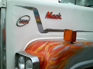 Airbrushed Semi-Truck Flames By Goldnrod Graphix 2