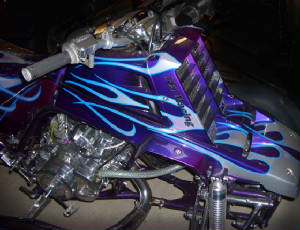 airbrushed ATV flames by Goldnrod