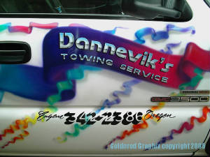 Dannevik's Towing Truck  Airbrush Video