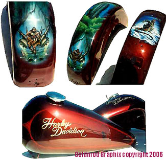 Airbrushed Motorcycle By Goldnrod Graphix 2